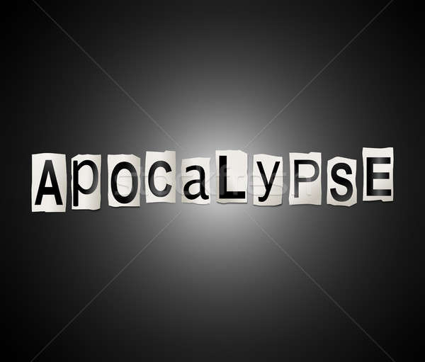 Apocalypse mot illustration imprimé Photo stock © 72soul