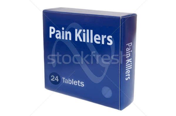 Dor azul medicina empacotar palavras saúde Foto stock © 72soul