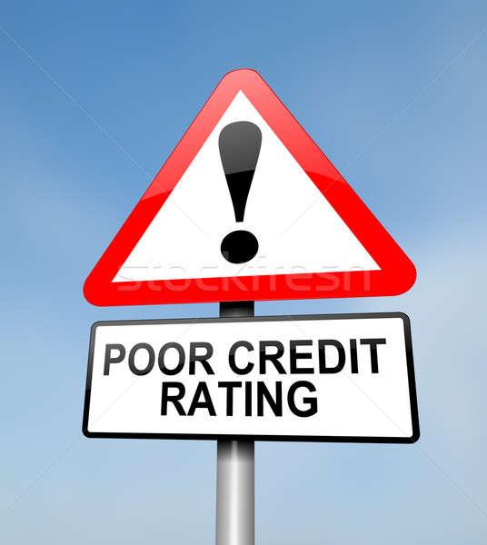 Poor credit rating. Stock photo © 72soul