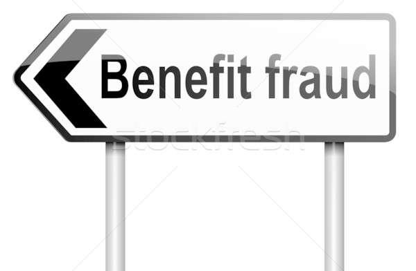 Korzyść oszustwo ilustracja drogowego znak drogowy biały Zdjęcia stock © 72soul