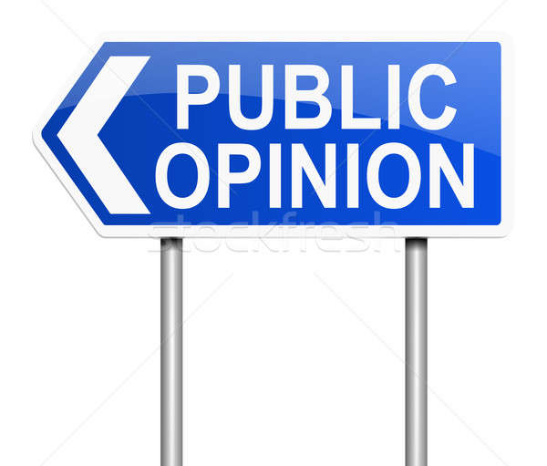Public opinion illustration signe fond graphique Photo stock © 72soul