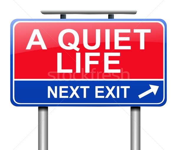 тихий жизни иллюстрация знак расслабиться графических Сток-фото © 72soul