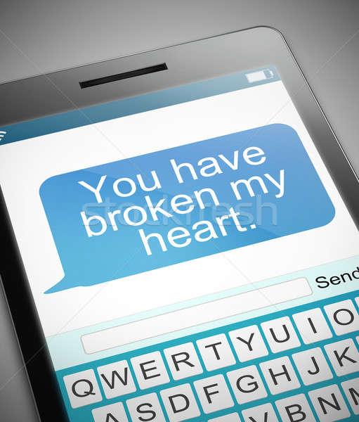 Broken heart message concept. Stock photo © 72soul