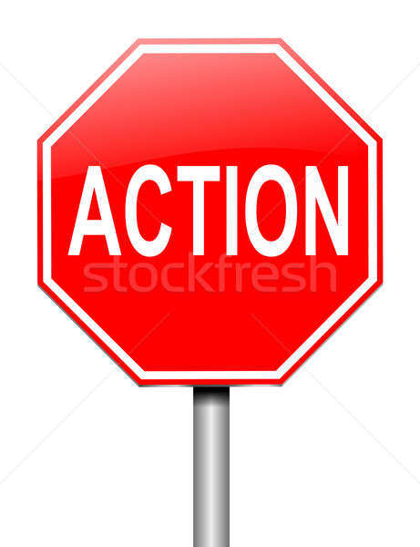 Action sign concept. Stock photo © 72soul