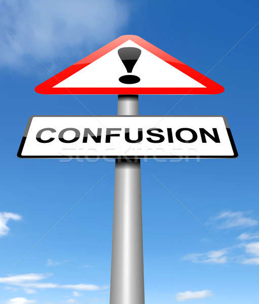 Confusion sign concept. Stock photo © 72soul