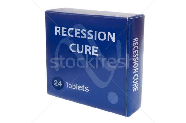 рецессия помочь синий медицина Pack слов Сток-фото © 72soul