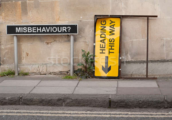 Direction for misbehavours Stock photo © 72soul