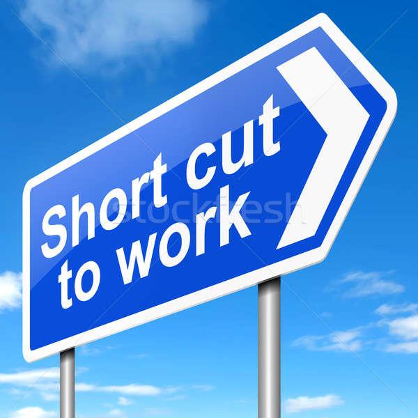 Zdjęcia stock: Krótki · cięcia · pracy · ilustracja · podpisania · tle
