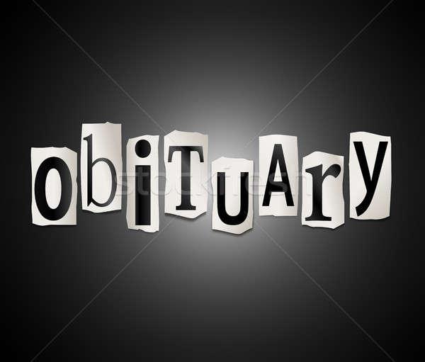 Obituary concept. Stock photo © 72soul