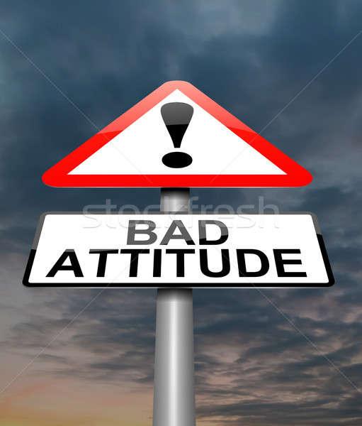 Mal actitud ilustración signo cielo fondo Foto stock © 72soul