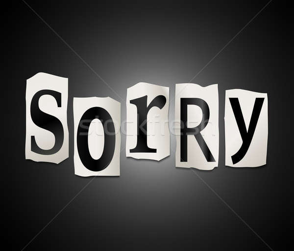 Sorry concept. Stock photo © 72soul