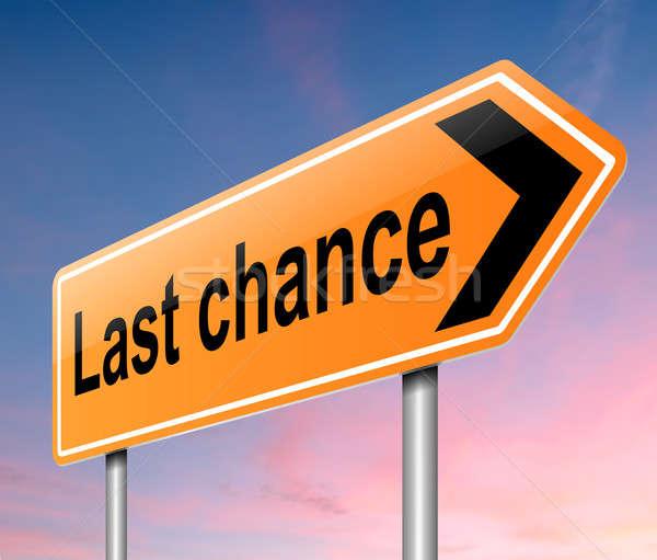 последний шанс иллюстрация знак дороги оранжевый Сток-фото © 72soul