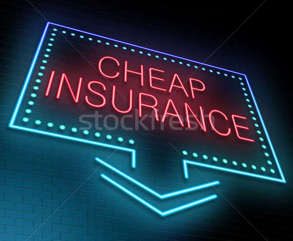 A buon mercato assicurazione illustrazione segno Foto d'archivio © 72soul