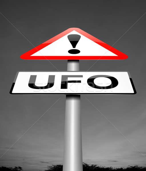 UFO felirat illusztráció űr grafikus ötlet Stock fotó © 72soul