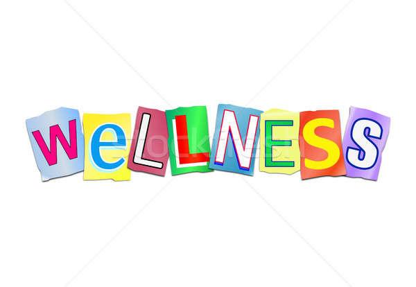 Wellness word concept. Stock photo © 72soul