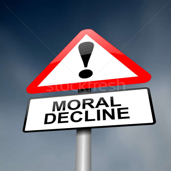 Moral decline concept. Stock photo © 72soul