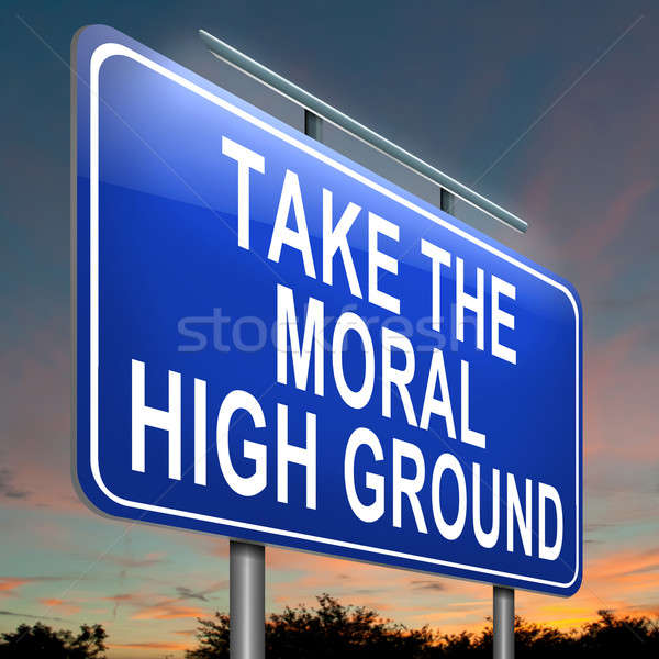 Moral high ground. Stock photo © 72soul