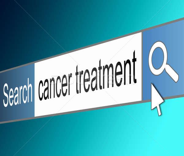 Cancro trattamento illustrazione schermo shot internet Foto d'archivio © 72soul