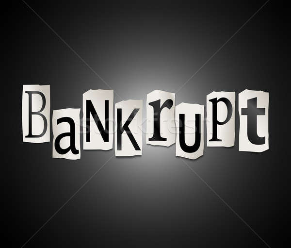 Stock photo: Bankrupt concept.