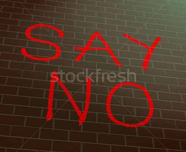 Say no concept. Stock photo © 72soul
