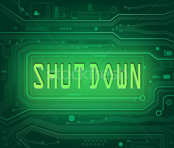 Stock photo: Shut down concept.