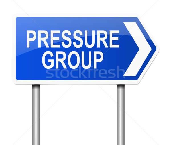 Pressure group concept. Stock photo © 72soul