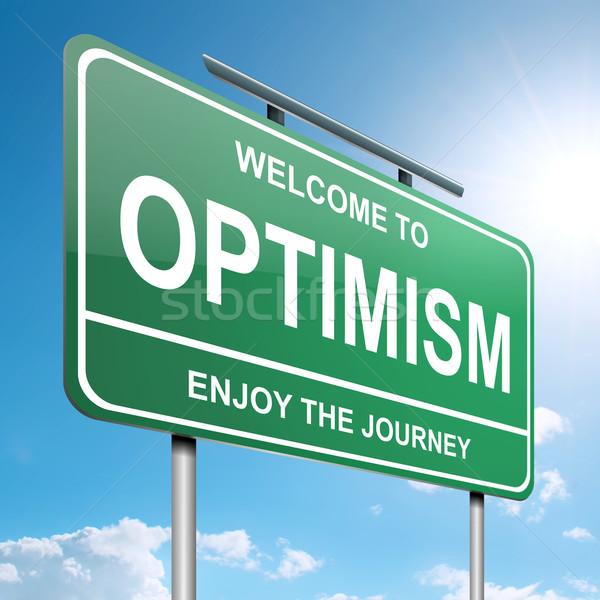 楽観的 実例 緑 青空 空 ストックフォト © 72soul