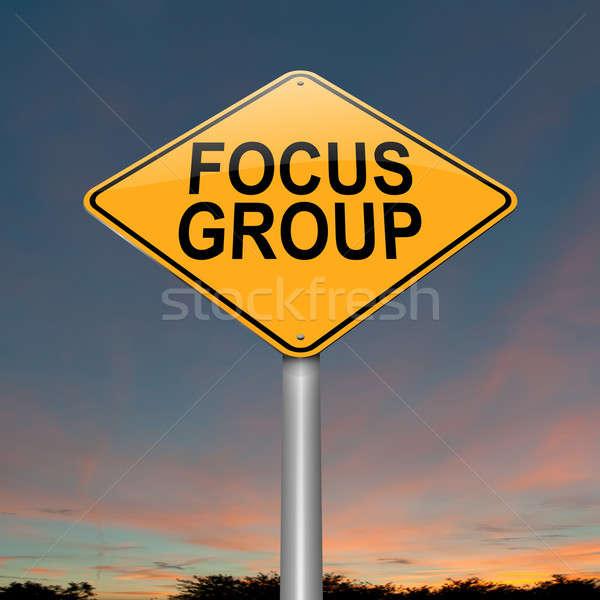 Groupe de discussion illustration ciel fond signe Photo stock © 72soul