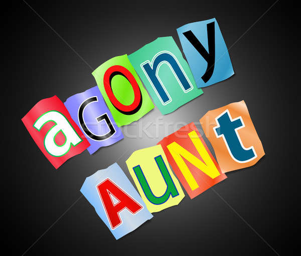 Agony aunt concept. Stock photo © 72soul