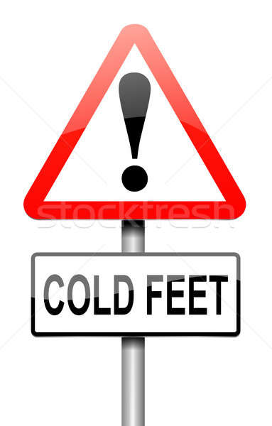 Cold feet concept. Stock photo © 72soul