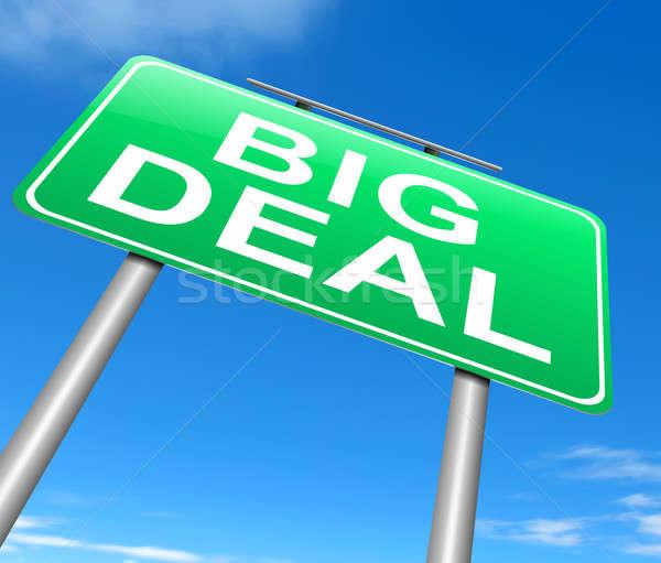 Groot deal illustratie teken business groene Stockfoto © 72soul