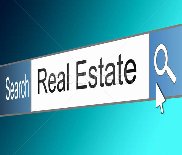 Immobiliari illustrazione schermo shot internet ricerca Foto d'archivio © 72soul
