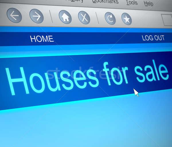 домах продажи иллюстрация экране компьютера захват компьютер Сток-фото © 72soul