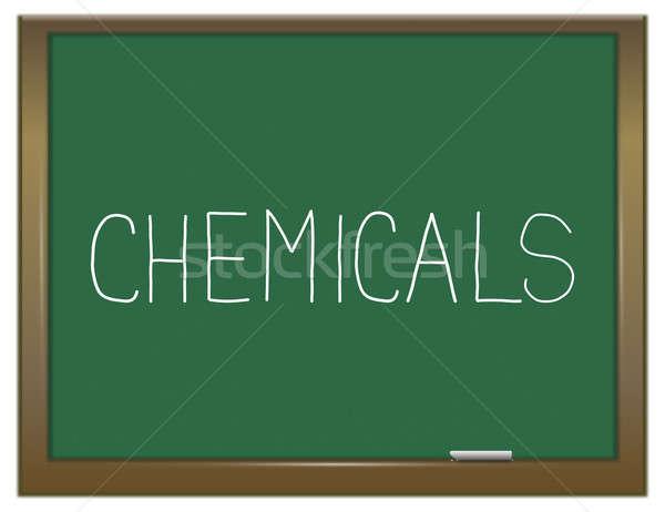 Productos químicos ilustración verde pizarra educación Foto stock © 72soul