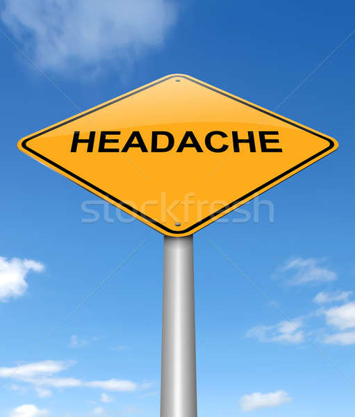Stock photo: Headache concept.