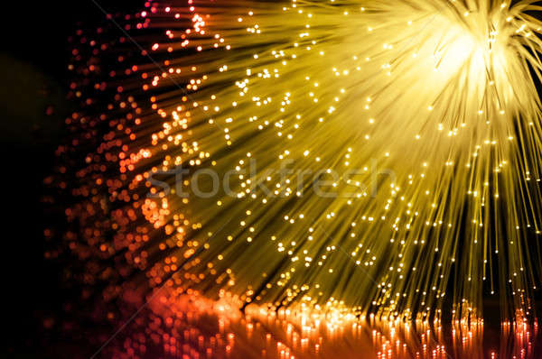 Abstract golden fiber optics. Stock photo © 72soul