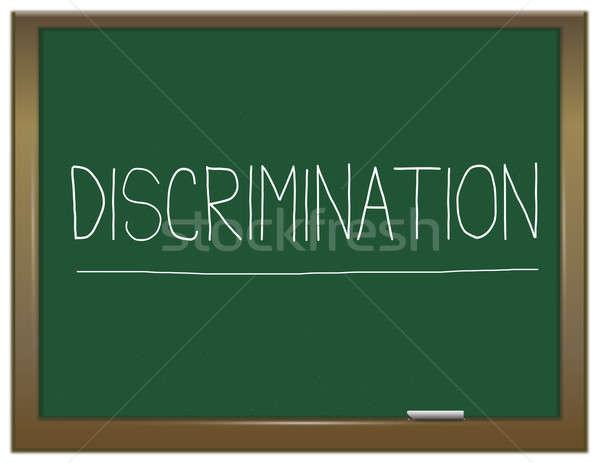 Discrimination illustration vert tableau écrit travaux Photo stock © 72soul