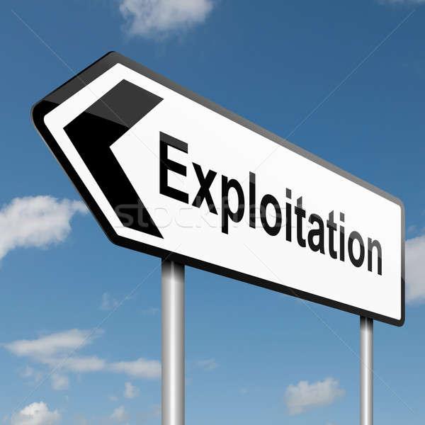 Exploitation concept. Stock photo © 72soul
