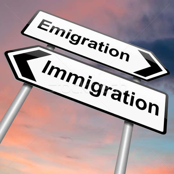 Immigration or emigration. Stock photo © 72soul