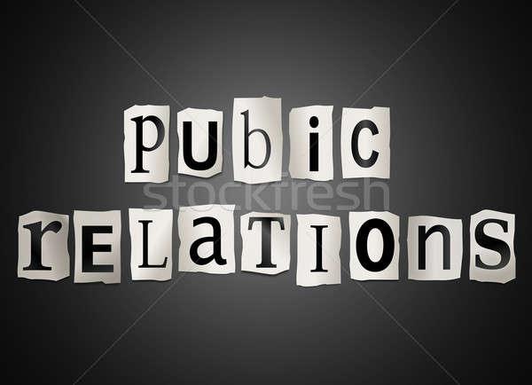 Public relations concept. Stock photo © 72soul
