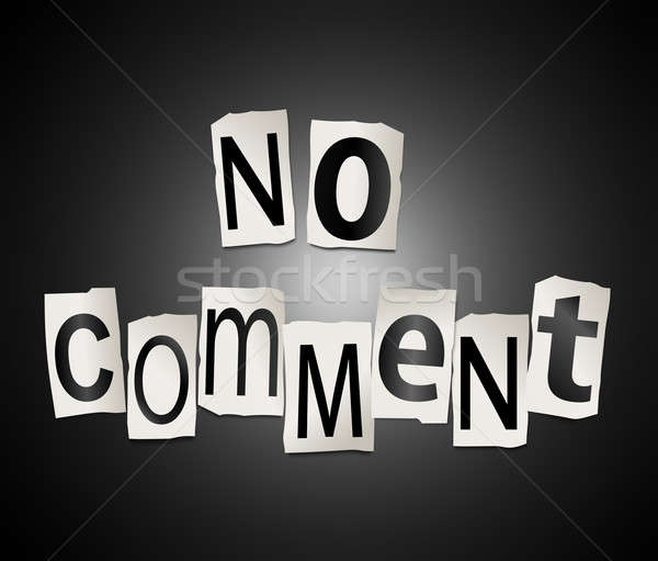 Pas commenter illustration imprimé Photo stock © 72soul