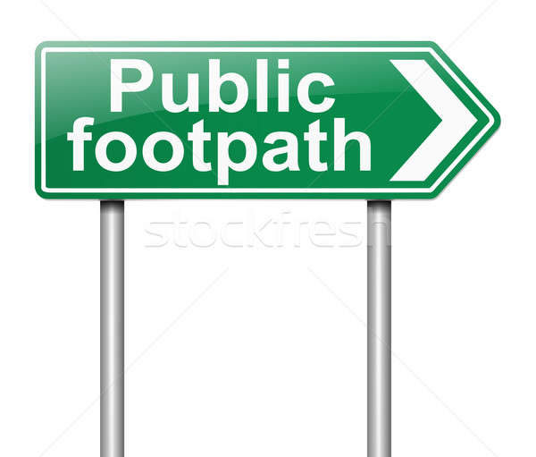 Public Footpath sign. Stock photo © 72soul
