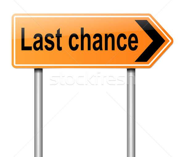 Utolsó esély illusztráció felirat út narancs Stock fotó © 72soul