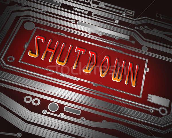 Shut down concept. Stock photo © 72soul