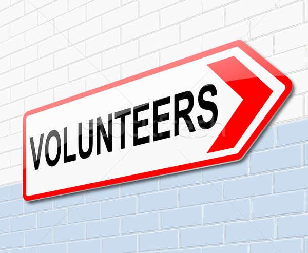 Volunteers concept. Stock photo © 72soul