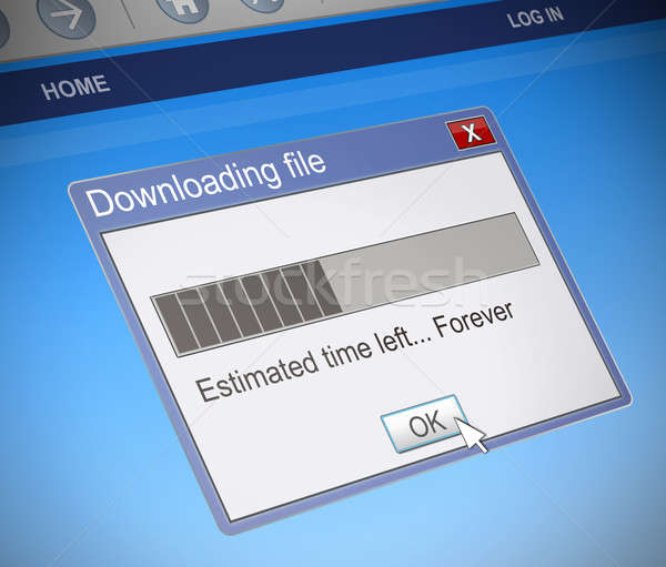 Slow download concept. Stock photo © 72soul