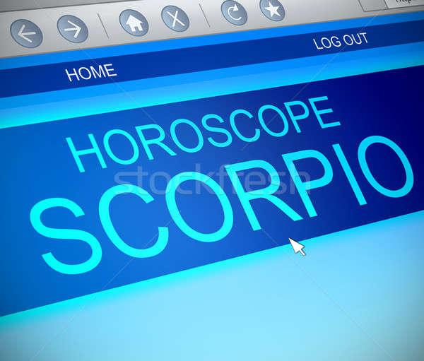 Scorpio horoscope concept. Stock photo © 72soul