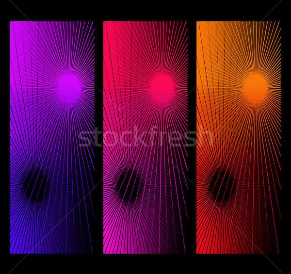 Abstract collage illustratie drie meetkundig ontwerpen Stockfoto © 72soul