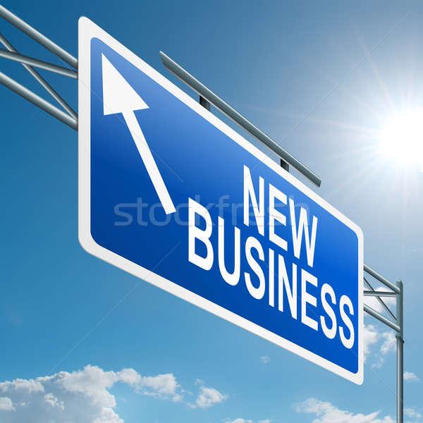 Foto d'archivio: Nuovo · business · illustrazione · autostrada · segno · cielo · blu