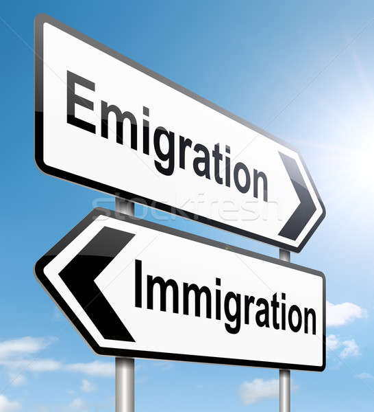Immigration or emigration. Stock photo © 72soul